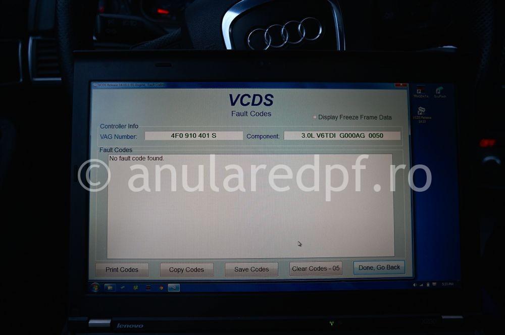 Anulare filtru de particule Audi A6  - 14