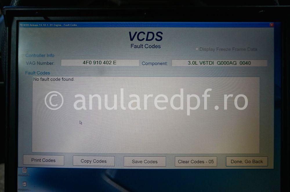 Anulare dpf Audi A6 - 13
