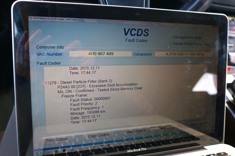 Anulare dpf Audi A8 4.2TDI - 03