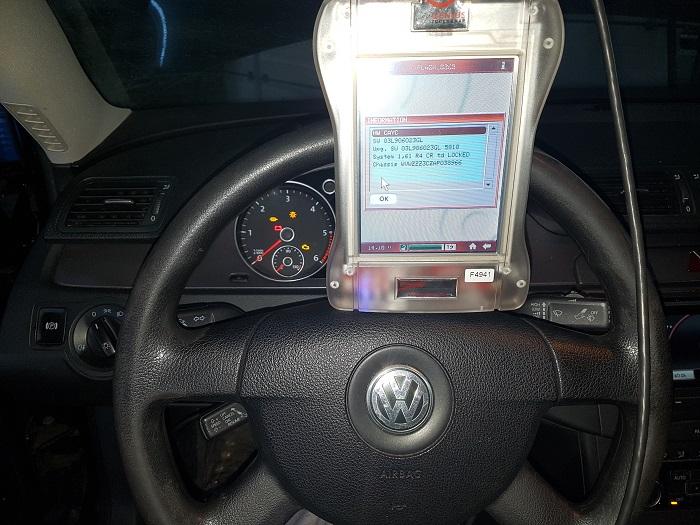 Resoftare Volkswagen Passat 1.6TDi cu ajutorul consolei NewGenius. Anulare filtru de particule.